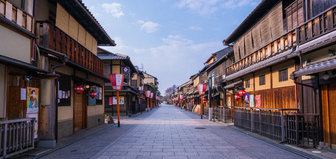 京都の観光地風景